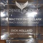 Literacy Award Inscription