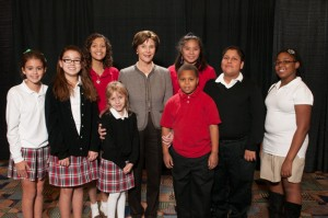 Laura Bush with Phoenix Academy Students at Scholarship Luncheon