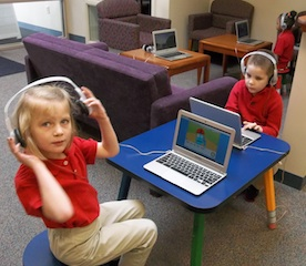 Phoenix Academy Students use Chromebooks