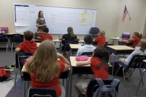Mrs. Hutchson Teaching Students
