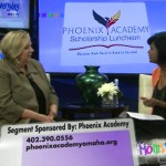 Nancy Liebermann visits with Pat Persaud about Phoenix Academy and the upcoming Scholarship Luncheon with speaker Erin Gruwell on Oct. 1st.