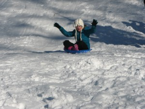 PA students love sledding!