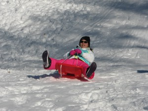 PA students enjoy sledding during recess