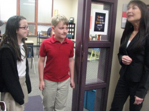 Phoenix Academy students show visitors our school