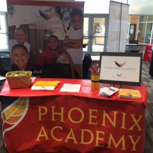 Phoenix Academy Service Learning Booth at UNO