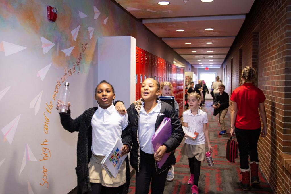 Students in Hallway