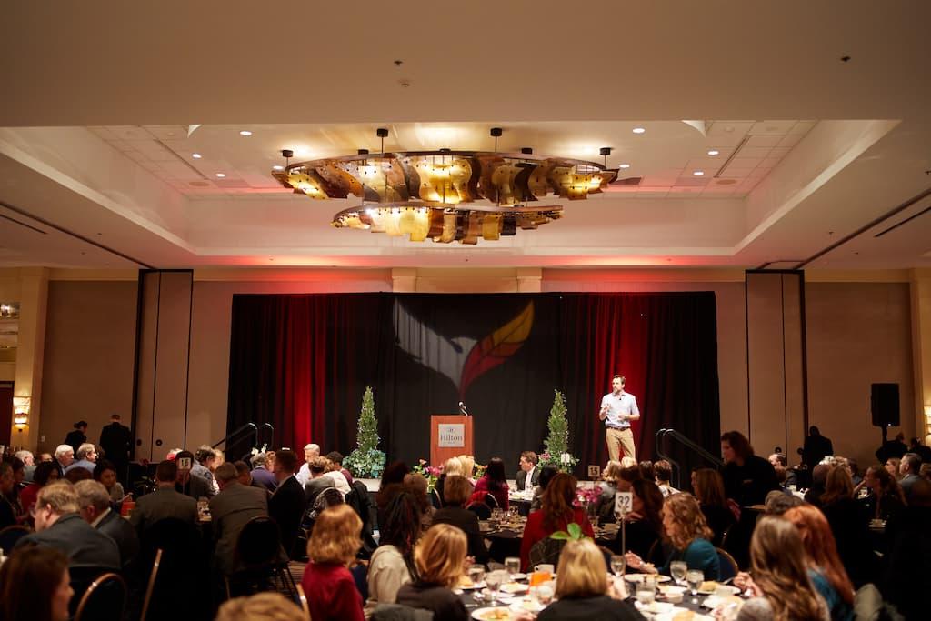 Dean Bragonier speaking at Luncheon